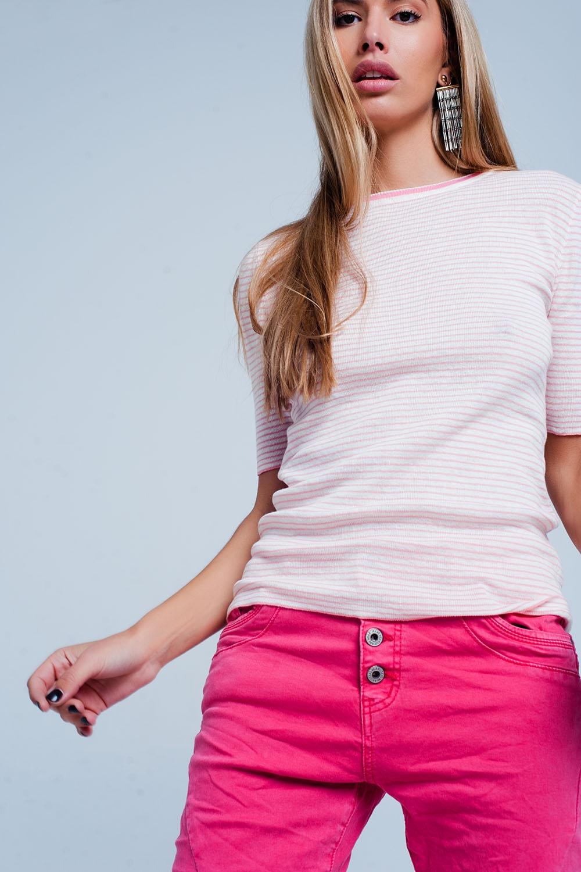 Trui Met Glitter Streep Op Mouw.Dames Truien Koop Online Kleding Groothandel Kledingmerk Q2