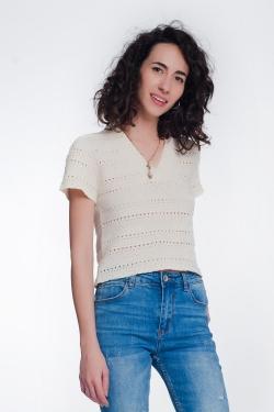 Gehaakte trui met textuur